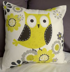 Yellow and Gray Patterned Owl 16 X 16 Inch Pillow by pictorialboom, via Etsy. I think I need this for my living room. Also Lisa I think you need this as well! Modern Crochet Blanket, Baby Girl Crochet Blanket, Grey Pillow Covers, Grey Pillows, Owl Pillows, Owl Always Love You, Gray Owl, Grey Pattern, Cute Owl