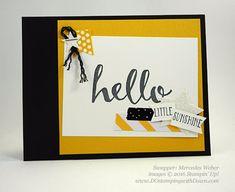 Hello Sale-a-Bration card swaps shared by Dawn Olchefske #dostamping #stampinup (Mercedes Weber)
