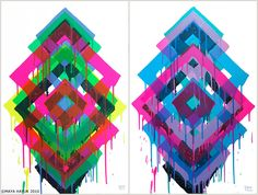 Maya Hayuk is an American artist best known for her bold and bright geometric patterns that she utilizes in large scale murals. Urban Art, Maya, Print Patterns, Aztec Patterns, Screen Printing, Artwork, Art Drawings, Abstract Art, Art Pieces