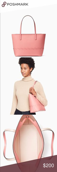 NWT Lisa Kate Spade Tote Still sold in stores and online! Perfect Spring Tote! Dimensions are in picture above. Non smoking Home. NWT Kate Spade Yucatan Pink Tote. kate spade Bags