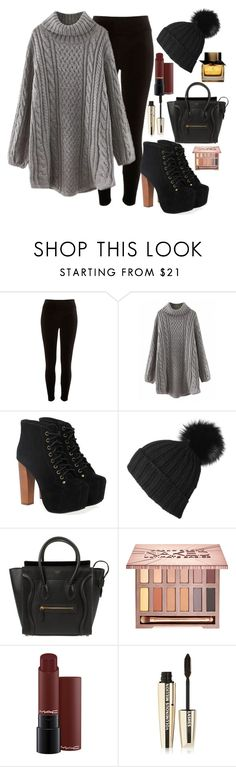 """""""fall"""" by weekfashion05 on Polyvore featuring Mode, River Island, Jeffrey Campbell, Black, CÉLINE, Urban Decay, L'Oréal Paris und Burberry"""