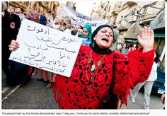 Egyptian women march to demand more rights, Cairo 2012 credit : http://www.egyptianwomen.info/