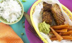 Kryddstekt lättrimmad lax med indiska ärter och smörslungade morötter Visa, Mashed Potatoes, Tacos, Mexican, Beef, Ethnic Recipes, Drinks, Food, Ideas