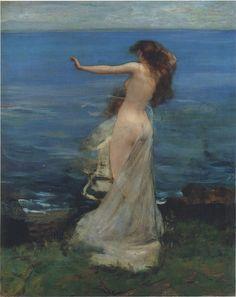 Sir John Lavery, ariadne (1886) on ArtStack #sir-john-lavery #art