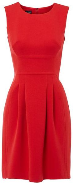 I don't necessarily need more dresses, but I love the classic cut of this, and I feel pretty in red.