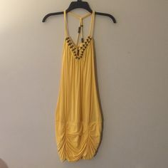 Guess Yellow Spaghetti strap Guess Dresses Backless