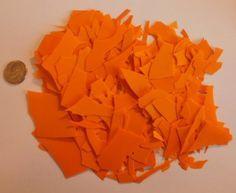 Bullseye * Orange * Confetti 90 COE Opal Glass Chips #Bullseye