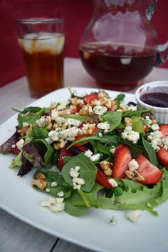 Celebrate Summer with Iced Tea and Strawberry Walnut Salad - Craving some Creativity #TEArifficPairs #collectivebias #shop