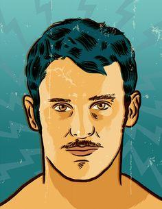 Tomas Gonzalez, chilean gymnast by Francisco Javier Olea Gymnastics, Smile, Illustration, Art, Illustrations, Fitness, Art Background, Kunst, Performing Arts
