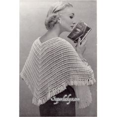 Reprint Vintage Cape crochet pattern in PDF instant download version by Superlucky8 on Etsy