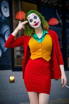 Diy Joker Costume, Joker Halloween Costume, Halloween Dress, Halloween Outfits, Women Halloween, Joker Costume Women, Halloween 2020, Diy Halloween, Halloween Makeup