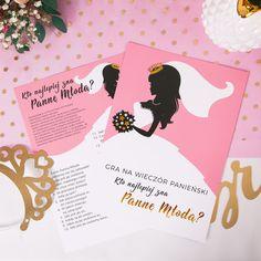 GRA na panieński Kto Najlepiej Zna Pannę Młodą? Bride, Books, Weddings, Products, Ideas, Wedding Bride, Libros, Bridal, Book