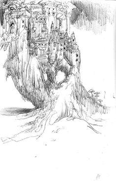 Citadelle miniature. #drawing #sketch #dessin #art #arte #dibujo #esbozo #castle #chateau #castillo #citadelle