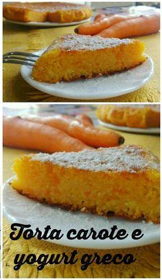 #Torta di #carote e #yogurtgreco è un #dolceperfetto per la #merenda  ma ideale anche per la #colazione.