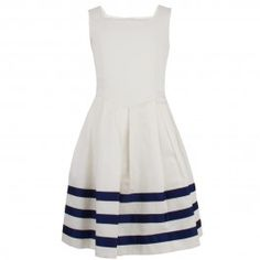 Junior Gaultier Girls Cream Dress With Navy Stripes Cute Fashion, Look Fashion, Pretty Outfits, Cute Outfits, Ootd, Playing Dress Up, Passion For Fashion, Dress To Impress, Dress Skirt