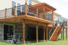 Image result for backyard view split level with verandah