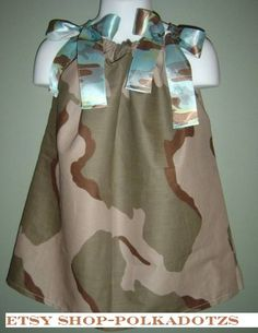 Camo Camouflage Hunting Sundress Pillowcase Dress by PolkaDotzs, $9.00