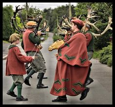 Abbots Bromley Horn Dance - The Abbots Bromley Horn Dance is an English folk dance involving reindeer antlers and a hobby horse that takes place each year in Abbots Bromley, Staffordshire, England.