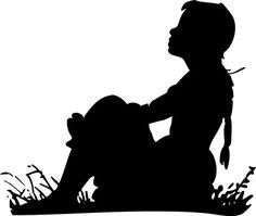 girl  silhouettes | Silhouette from Dover clip-art