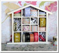 neat idea for storing Washi and other decorative tapes. Ribbon Organization, Ribbon Storage, Craft Organization, Organizing, Space Crafts, Decor Crafts, Home Decor, Craft Space, Diy Crafts