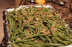 Roasted Pecan Green Beans | Ruled Me