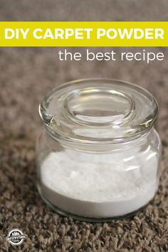 A simple recipe to banish carpet odors. It's so easy and makes your house smell amazing!