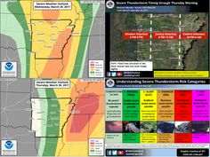 says For LR & Central Arkansas Tonight: Showers & T'Storms. Some Severe W. Large Hail, Damaging Wind, & Possibly A Few  Tornadoes. Localized Flash Flooding Is Also Possible. Lo 60. Thursday: Sct'd Showers & T'Storms. 1 Or 2 Could Be Severe W. Large Hail, Damaging Wind, & Possibly An Isolated Tornado. Localized Flash Flooding Is Also Possible. Hi 67. Thu Ngt: Gradual Clearing. Lo 50. Fri: Sunny. Hi 75. Fri Ngt: Clear. Lo 51. Sat: Sunny. Hi 76. For Updates: http://www.weather4ar.org/ - DCP2
