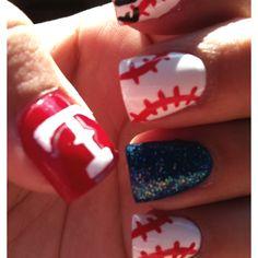 My 2012 Texas ranger nails :-)