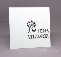 one layer card - anniversary