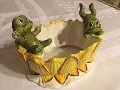 Rare Neil the Frog Family Planter Flower Pot 1976 Sears Roebuck and Co Japan