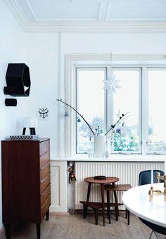 Sort-hvid villa: Loppefund og grafisk pynt - Boligliv