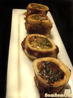 Roasted Bone Marrow - spread over garlic toast and accompany with a salad...alternate tasty!