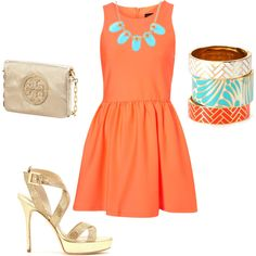 Loving orange this year!  created by abbysands01 on Polyvore