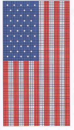 Flag patterns from Karen Jenner - Loom and Peyote Beadwork Patterns #heartbeadwork