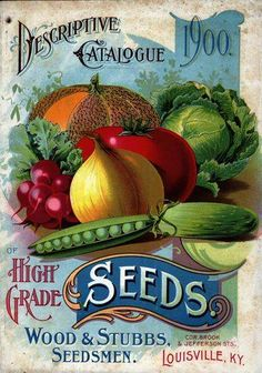 With gardening season upon us, I'm showing off the beautiful covers of some vintage vegetable seed catalogs. Vintage Diy, Images Vintage, Vintage Labels, Vintage Ephemera, Vintage Cards, Vintage Paper, Vintage Postcards, Seed Catalogs, Garden Catalogs