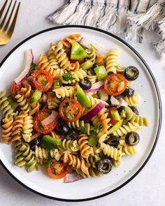 Healthy Pasta Salad, Easy Pasta Salad, Healthy Pasta Recipes, Vegan Pasta, Healthy Pastas, Pasta Salad Recipes, Easy Healthy Recipes, Vegetarian Recipes, Easy Meals