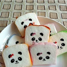 2 X Pop Cute Panda Squishy Buns Bread Charms Squishies Cell Phone Straps for sale online