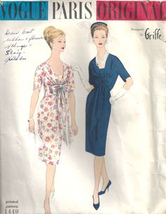 Vintage Vogue Pattern -love patterns, but never use them~they just inspire me to make my own up~