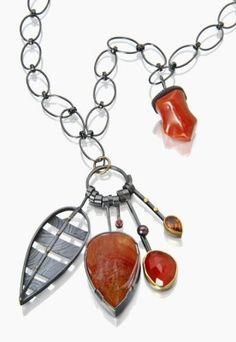 Fuego Cluster necklace. Sydney Lynch