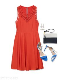 Cute dress and accessories