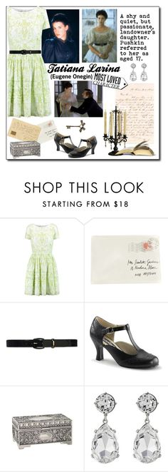 """Tatiana Larina: Eugene Onegin"" by icedoll ❤ liked on Polyvore featuring Oscar de la Renta, Moschino, Lauren Ralph Lauren, Funtasma and Kenneth Jay Lane"
