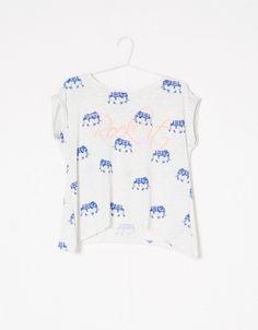 T-shirt BSK imprimé éléphant - T- Shirts - Bershka Algérie