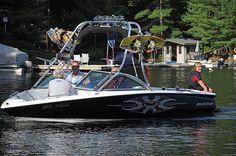 The ski boat!