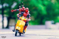Talentoso fotógrafo japonês traz super heróis para a vida real em cenários inusitados | Tá Bonito
