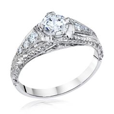 Whitehouse Brothers Vintage Engagement ring in Platinum