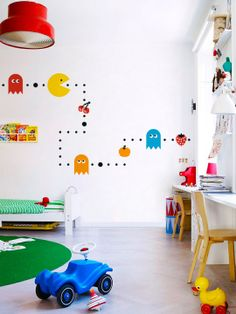 Vinyl wall Sticker Decal , great wall stickers for kids rooms, My Pac Man available from Kozihaus.co.uk