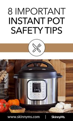 Electric pressure cookers are much safer than the stovetop kind, but it's still good to keep up on these important Instant Pot safety tips. How To Cook Beans, How To Cook Rice, Healthy Cooking, Cooking Tips, Electric Pressure Cooker, Food Staples, Cookers, Safety Tips, No Cook Meals