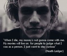 Heath Ledger - what a way to go
