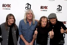 Malcolm Young, Cliff Williams, Angus Young and Brian Johnson of AC/DC Premiere of 'AC/DC - Live at River Plate' at Hammersmith Apollo - Arrivals