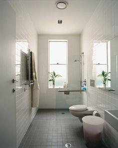 cuartos de bao con ducha y planta rectangular